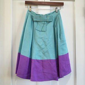 Kate Spade Plaza Esti Colorblock Skirt A-like